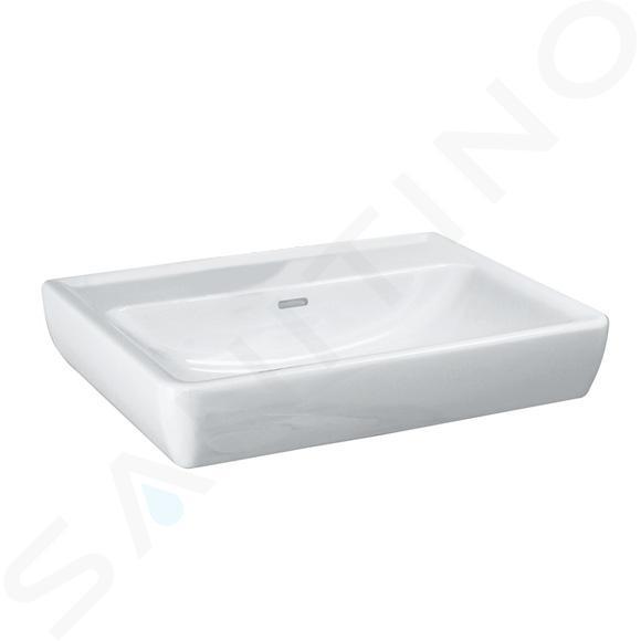 Laufen Pro - Wastafel, 650x480 mm, zonder kraangat, wit H8189530001091