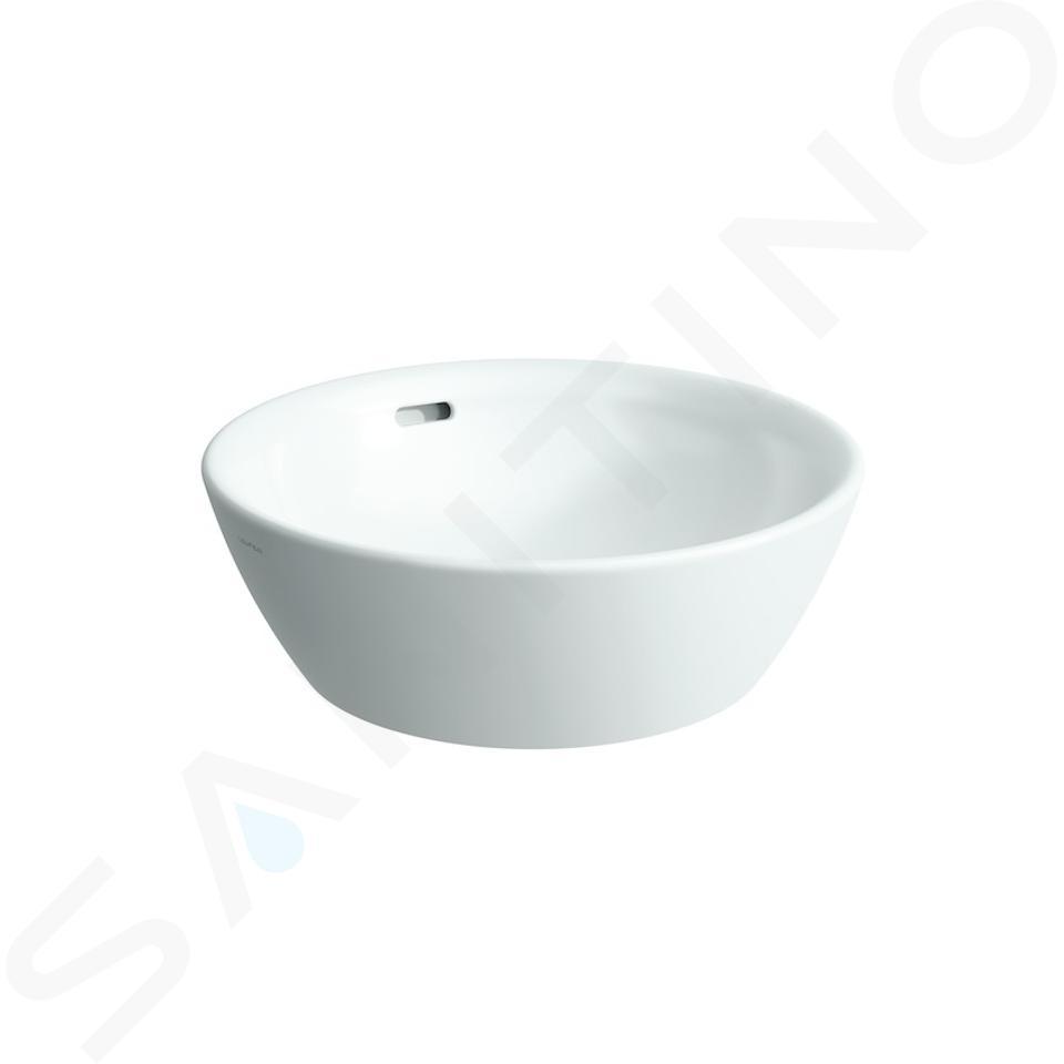 Laufen Pro - Opzetwastafel, 420x420 mm, zonder kraangat, wit H8129620001091