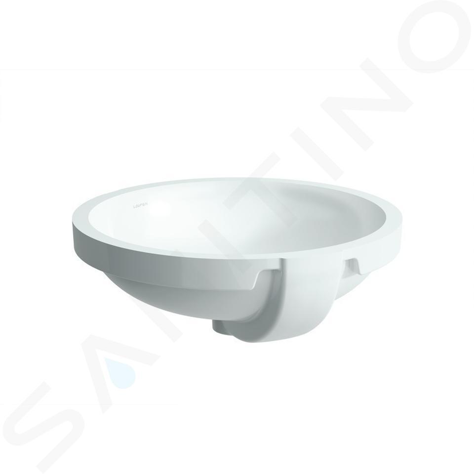 Laufen Pro - Umyvadlo, 420x420 mm, bez otvoru pro baterii, s LCC, bílá H8189624001091