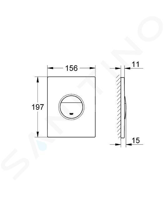 Grohe Nova Cosmo - Pulsante di azionamento, bianco alpi 38765SH0