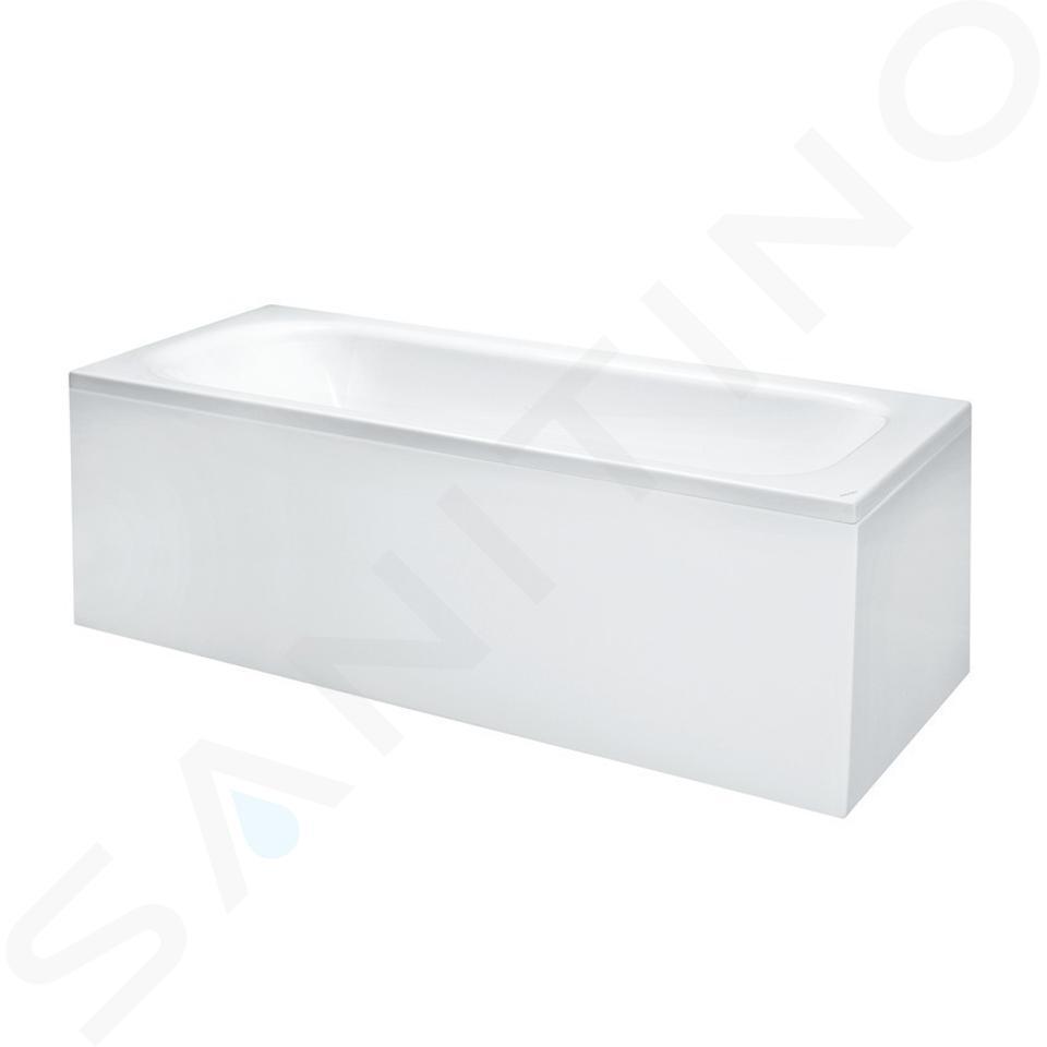 Laufen Solutions - Vana s konstrukcí a L-panelem pravým, 1700x700 mm, bílá H2225060000001