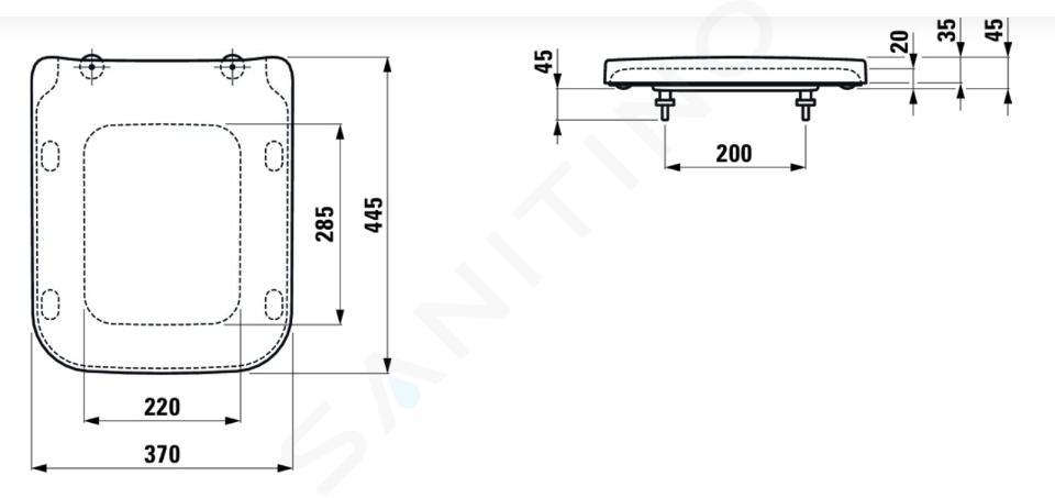 Laufen Pro S - Wc-bril, wit H8919600000001
