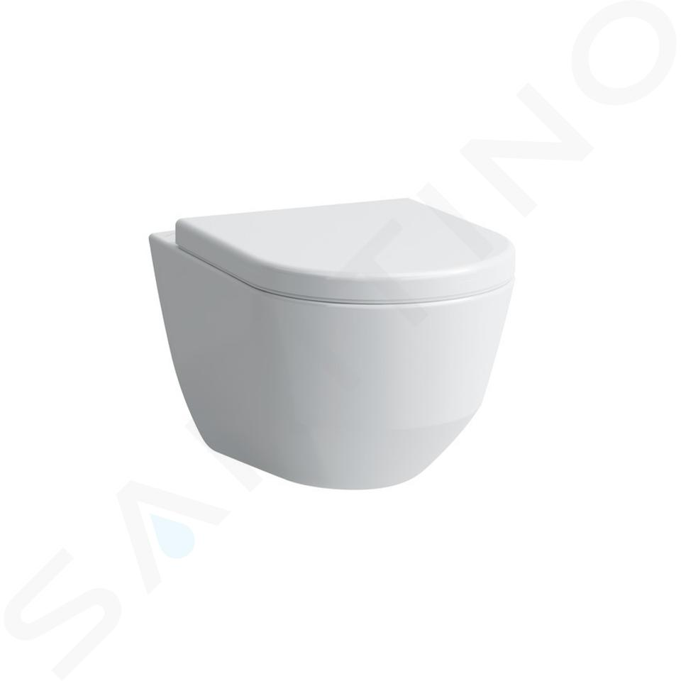 Laufen Pro - Závesné WC, 530x360mm, rimless, s LCC, biela H8209664000001