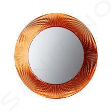 Laufen Kartell - Zrcadlo v rámu, průměr 780 mm, oranžová H3863310820001