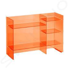 Laufen Kartell - Policový regál, 750x260x530 mm, oranžová H3893310820001