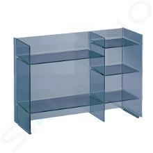 Laufen Kartell - Policový regál, 750x260x530 mm, modrá H3893310830001