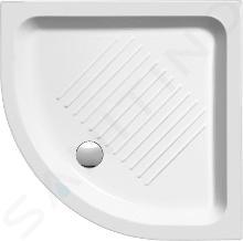 Sapho GSI Vaničky - Keramická sprchová vanička, štvrťkruh 80 cmx80 cmx11 cm, R550, biela 448011