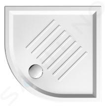 Sapho GSI Vaničky - Keramická sprchová vanička, štvrťkruh 90 cmx90 cmx6 cm, R550, biela 349711
