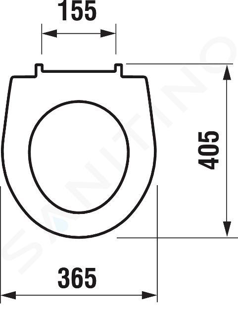 Jika Lyra plus - WC sedátko, Antibak, bílá H8933803000631