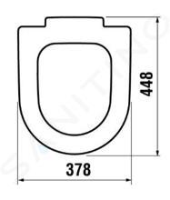 Jika Mio - WC sedátko, duroplast, bílá H8927113000001