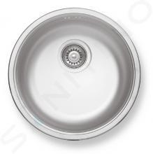 Novaservis Spoelbakken - Spoelbak rond, diameter 430 mm, met overloop, rvs DR43