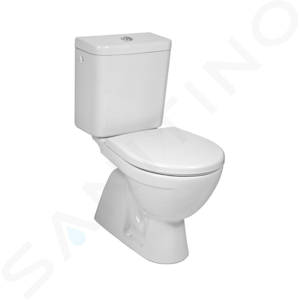 Jika Lyra plus - WC kombi, svislý odpad, boční napouštění, bílá H8263870002413