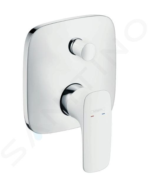 Hansgrohe PuraVida - Miscelatore monocomando ad incasso per vasca da bagno, bianco/cromo 15445400