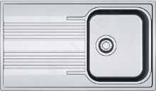 Franke Smart - Nerezový dřez SRX 611-86, 860x500 mm 101.0395.016