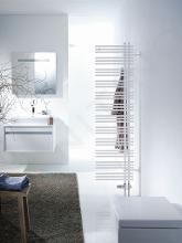 Zehnder Yucca Asym - Koupelnový radiátor 872 x 478 mm, rovný, jednořadý, bílý lak YA-090-050