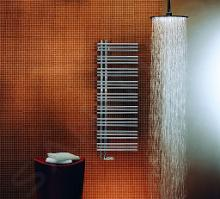 Zehnder Yucca Asym - Koupelnový radiátor 1304 x 578 mm, rovný, jednořadý, chrom YAC-130-060
