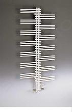 Zehnder Yucca - Kúpeľňový radiátor 908x500 mm, rovný, stredové pripojenie 50 mm, jednoradový, biely lak YS-090-050