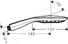 Hansgrohe PuraVida - Douchette 150 Air 3 jets, blanc/chrome 28557400