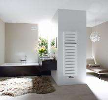 Zehnder Metropolitan Bar - Kúpeľňový radiátor 1225x400 mm, rovný, stredové pripojenie 50 mm, biely lak MEP-120-040