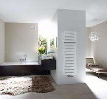 Zehnder Metropolitan Bar - Kúpeľňový radiátor 1225x600 mm, rovný, stredové pripojenie 50 mm, biely lak MEP-120-060
