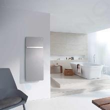 Zehnder Vitalo Bar - Koupelnový radiátor 1250 x 400 mm, rovný, středové připojení 50 mm, bílý lak VIP-125-040