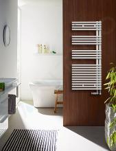 Zehnder Forma Asym - Koupelnový radiátor 1681 x 596 mm, rovný, vnější připojení 50 mm, bílý lak LFAL-170-060