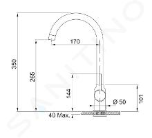 Franke Sets - T45 spoelbakset, OID 651 tectonite spoelbak, zwart + keukenkraan FP 9900, onyx NEW 114.0441.230