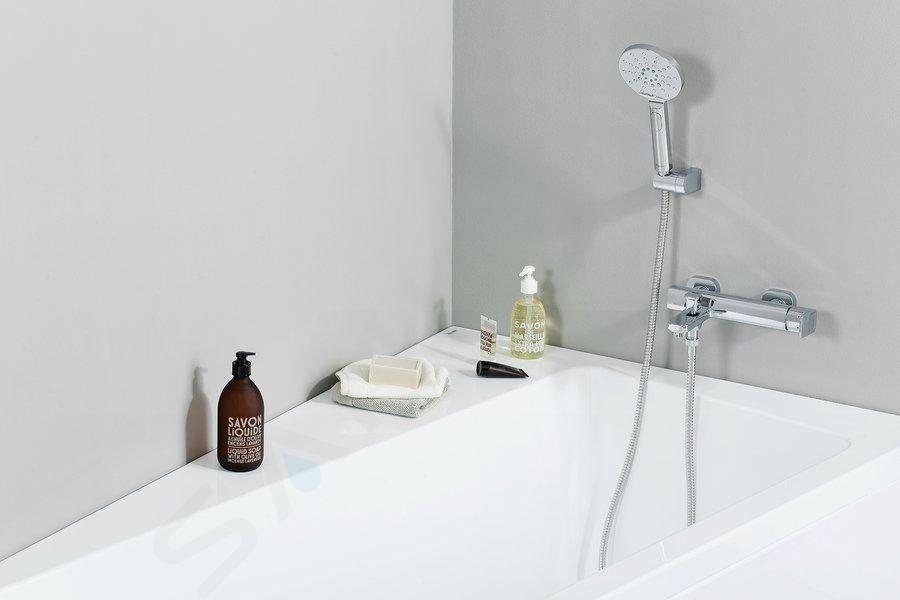 Ravak Chrome - Držák sprchy 611.00 skloubem, plast X07P011