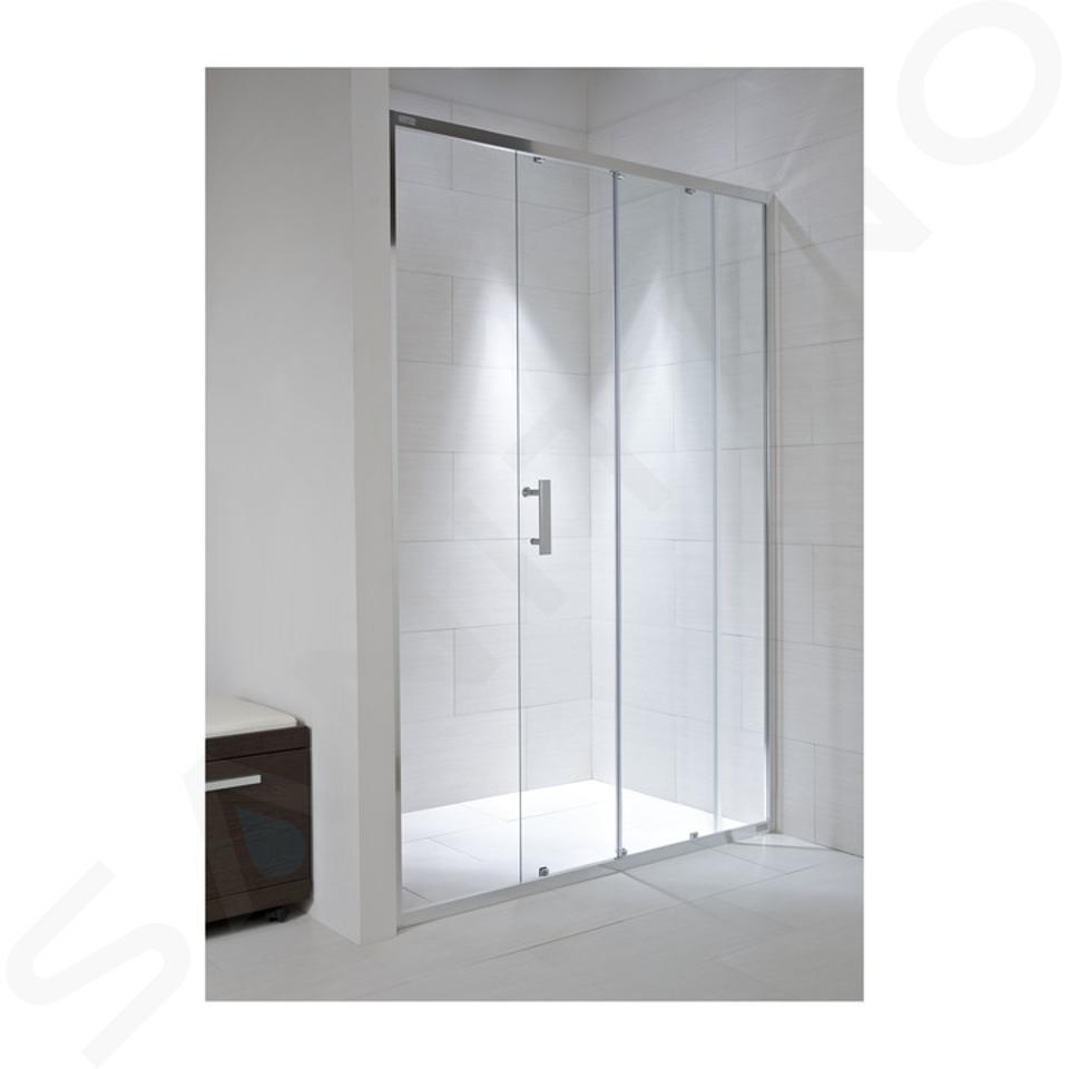 Jika Cubito Pure - Sprchové dveře, 1 posuvný segment, 1 pevný segment, levé/pravé, 1200x30x1950 mm, stříbrný profil/sklo arctic H2422440026661