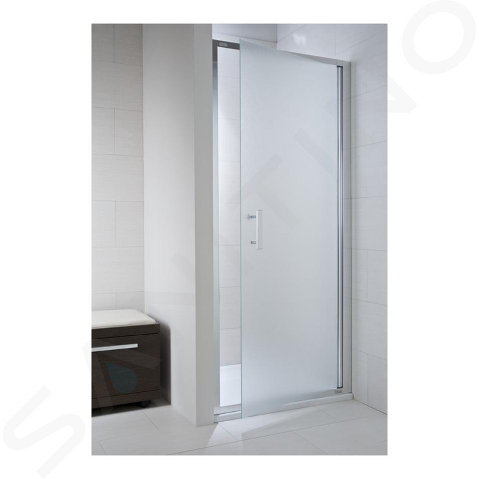 Jika Cubito Pure - Sprchové dveře pivotové L/P, 800x1950 mm, stříbrná/sklo artic H2542410026661