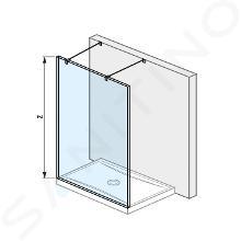Jika Pure - Sklenená stena pevná 120 cm na sprchovú vaničku 120cmx80 cm a 120cmx90 cm, s úpravou Jika Perla Glass, 1200mmx2000mmx2000mm H2674200026681