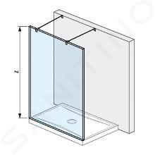 Jika Pure - Sklenená stena pevná 140 cm na sprchovú vaničku 140cmx80cm a 140 cmx90 cm, s úpravou Jika Perla Glass, 1400mmx200mmx2000mm H2674220026681