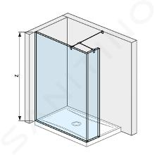 Jika Pure - Sklenená stena bočná 120 cm na sprchovú vaničku 120cmx80cm a 120cm x90 cm, s úpravou Jika Perla Glass, 1200mmx200mmx2000mm H2674260026681