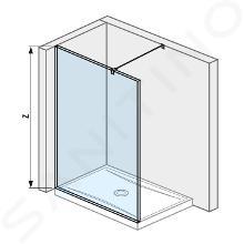 Jika Pure - Sklenená stena bočná 130 cm na sprchovú vaničku 130 cmx80 cm a 130 cmx90 cm, s úpravou Jika Perla Glass, 1300mmx200mmx2000mm H2674240026681