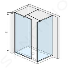 Jika Pure - Walk in do rohu 680 mmx800 mm na sprchovú vaničku 120cmx80cm, 130cm x 80cm, 800mmx200mmx2000mm H2684230026681