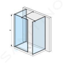 Jika Pure - Walk in 680mmx800 mm na sprchovú vaničku 120cmx80 cm, 130 cmx80 cm, s úpravou Jika Perla Glass, 800mmx200mmx2000mm H2684270026681