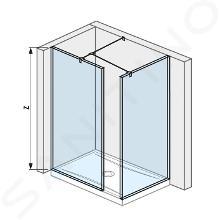 Jika Pure - Walk in do rohu 795 mmx900 mm na sprchovú vaničku 140 cmx90 cm, 900mmx200mmx2000mm H2684260026681