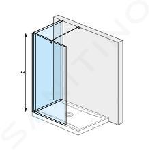Jika Pure - Sklenená stena L 140 cmx90 cm na sprchovú vaničku 140 cmx90 cm, s úpravou Jika Perla Glass, 1400mmx200mmx2000mm H2694260026681