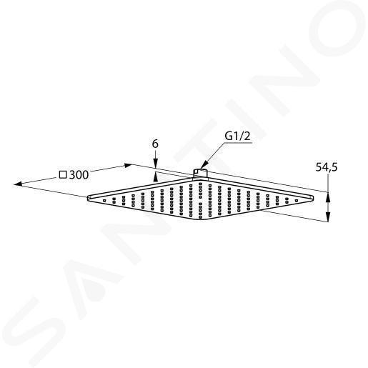 Kludi A-Qa - Douche de tête 300x300 mm, chrome 6453005-00