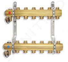 Novaservis Inštalatérsky program - Rozdeľovač s regulačnými a mechanickými ventilmi, 6 okruhov RO06S