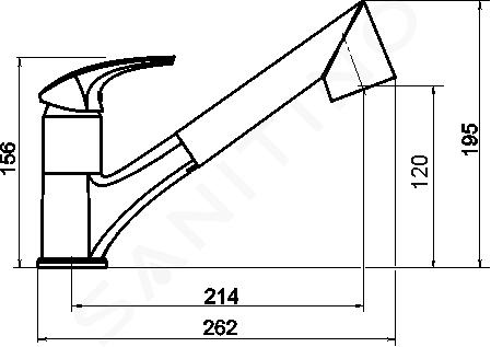 Novaservis Metalia 57 - Robinetterie d'évier avec douchette extractible et inverseur, granit-sable 57081,GRS