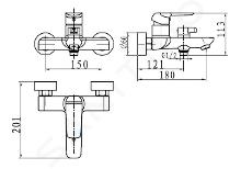 Novaservis Nobless Tina - Miscelatore per vasca da bagno, cromo 38020/1,0