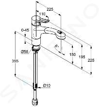 Kludi Mx - Miscelatore monocomando per lavello, cromato 399410562
