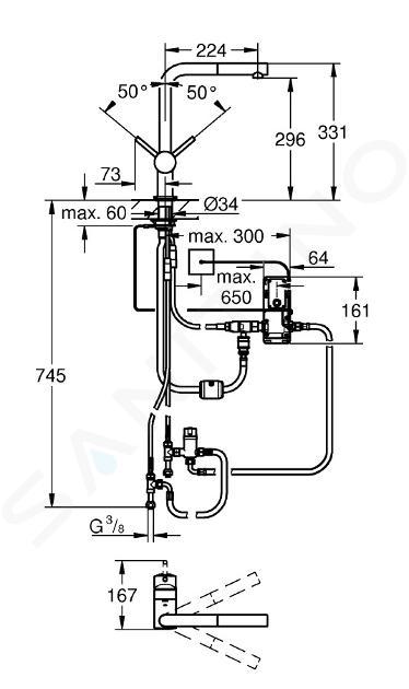 Grohe MintaTouch - Elektronisch keukenkraan, supersteel 31360DC1