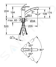 Grohe Eurosmart - Keukenkraan, chroom 30305000