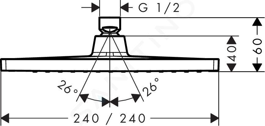 Hansgrohe Crometta - Kopfbrause E 240, verchromt 26726000