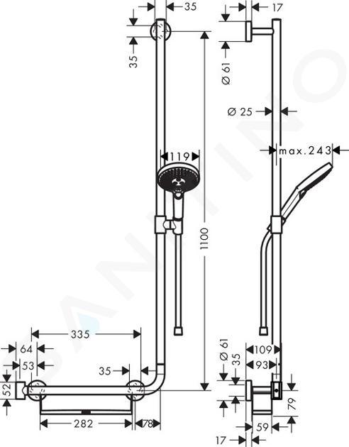 Hansgrohe Raindance Select S - Sprchová souprava 120/Unica'Comfort 110 R, bílá/chrom 26326400