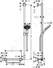 Hansgrohe Raindance Select S - Sprchová souprava 120 EcoSmart/Unica'Comfort 110 R, bílá/chrom 26327400