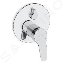 Hansa Mix - Mitigeur de baignoire encastré, ECO, avec inverseur pour 2 sorties, chrome 81849083