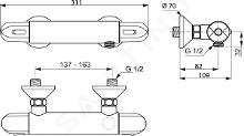 Ideal Standard CeraTherm - Mitigeur thermostatique de douche, chrome A6413AA